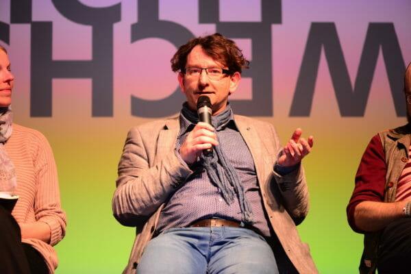Schichtwechsel-Panel auf der re:publica 2016 in Berlin, mit Prof. Torsten Stapelkamp.