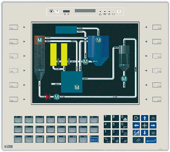 Das System ›UniOP ePAD30‹ der Firma Exor in Solingen, das über TFT-Touchscreens dargestellt wird, ist ein Interface für die Steuerung von Produktionsmaschinen.