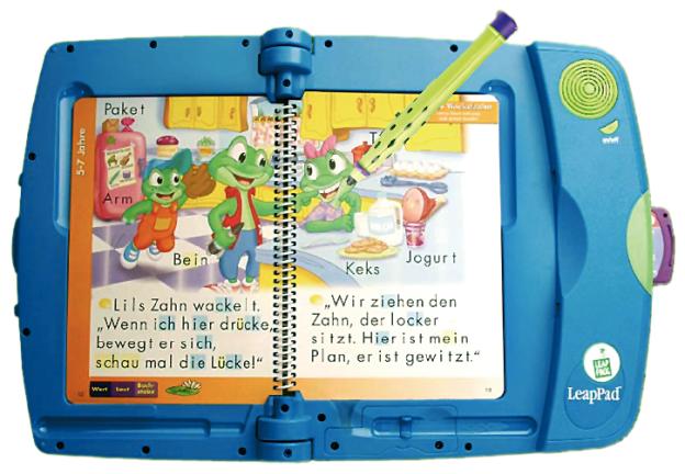 LeapPad-Lernsystem von Leapfrog (www.leapfrog.de).