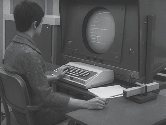 Mit dem Graficon, einem experimentellen Eingabegerät aus dem Jahr 1963–64, wird die Suche nach geeigneten Methoden deutlich, mit denen man auf die am Bildschirm abgebildeten Inhalte eingreifen kann.