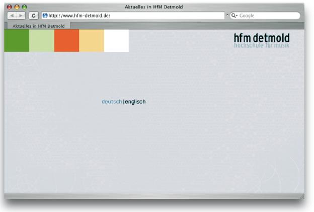 Die Studentinnen Claudia Schick, Jasmin Breckenkamp und Andrea Schreiber erstellten für die Entwicklung einer Internetseite der Hochschule für Musik Detmold ein sprichwörtliches Papier-Klickmodell.