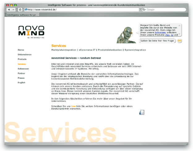 Internetseite der Novomind AG, http://novomind.de