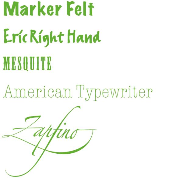 Schriftarten können zielgruppen- bzw. themenspezifisch gestaltet oder ausgewählt werden.