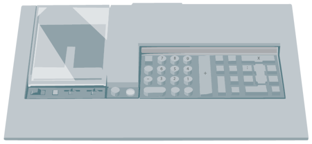 Tischrechner ›Logos 59‹ von Olivetti (1973).