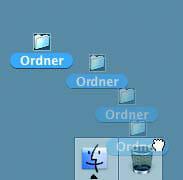 Drag and Drop. Manipulation durch Greifen und Verschieben von Elementen bzw. Werkzeugen.