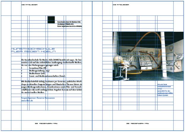 Layoutraster für einen Katalog des Medienwerk-NRW (Design: Martin Mellen; Betreuung: Torsten Stapelkamp).
