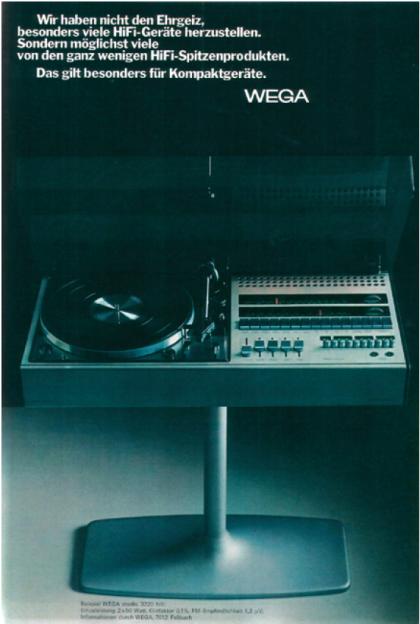Wega studio 3220 hifi, 1971.