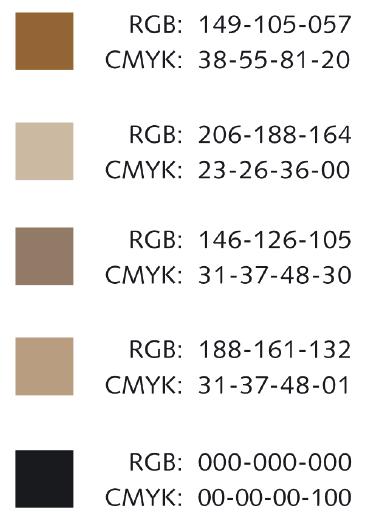 Das aus den Absichten des Autors und dem Moodboard resultierende Farbsystem basiert auf nur wenigen Farben, die dazu beitragen sollen, den Anwender in eine bestimmte Stimmung und Atmosphäre des abenteuerlichen Reisens zu versetzen.