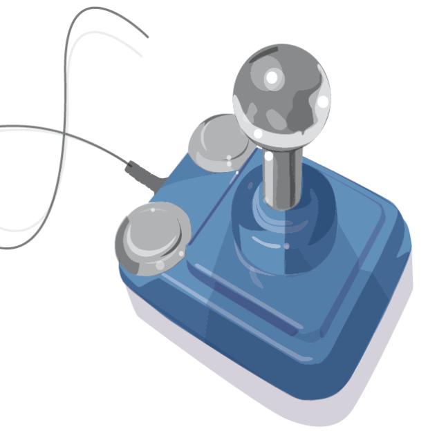 Der klassische Joystick für die Computerkonsole.