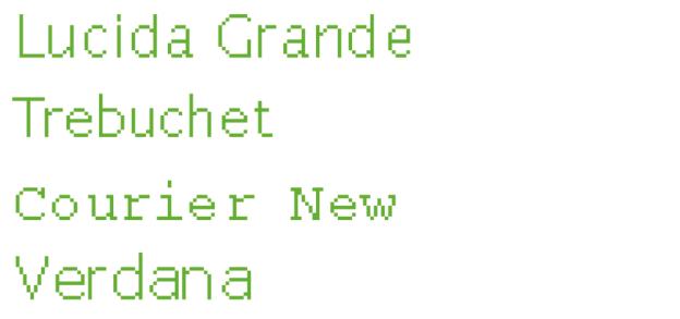 Pixelraster von Schriften ohne Serifen