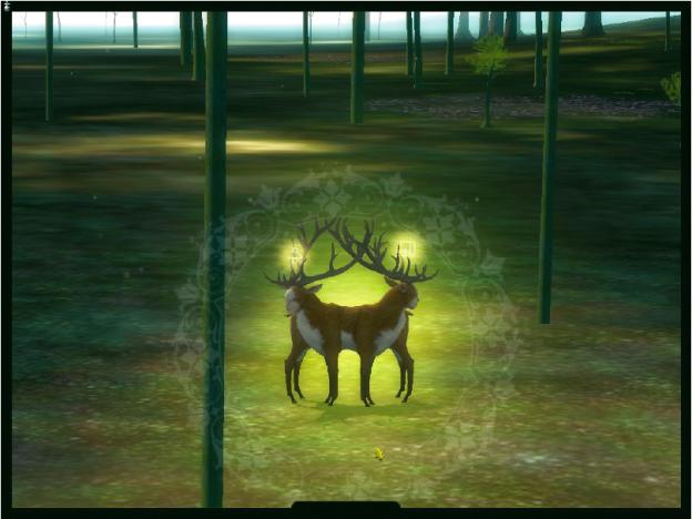 ›The Endless Forest‹ ist eine friedliche Umgebung, in der auf neuen Wegen der Kommunikation zwischen Online-Spielern experimentiert wird. Es gibt weder Chat noch Kampf. Die Kollision mit anderen Spielern erzeugt keinen Schmerz, sondern hübsche Leuchteffekte.