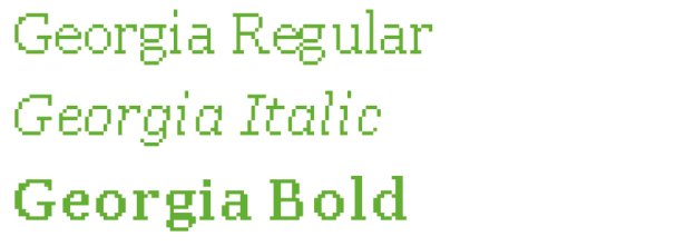 Pixelraster von Schriften mit Serifen