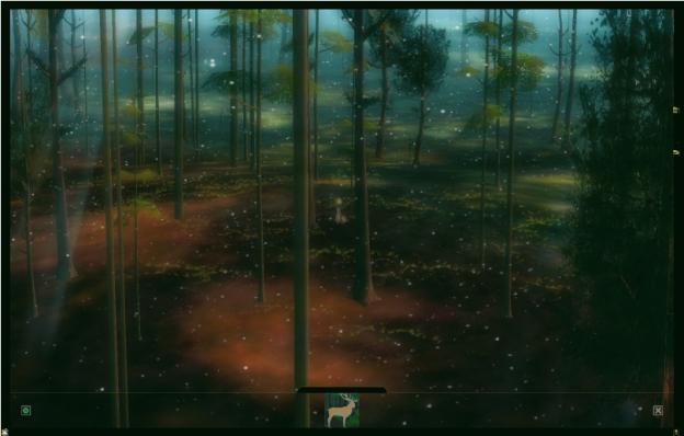 Normalerweise ist es sonniger Nachmittag im Wald. Die Entwickler des Online-Spiels können dies jedoch in Gestalt der ›Zwei Götter‹ in vielseitiger Hinsicht ändern. Tag wird zu Nacht und Sonnenschein zu Schneefall. Dies sind nur einige der Effekte, die während der Live-Performances in der virtuellen Welt zur Anwendung kommen.