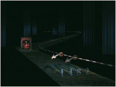 Zoom. Manipulation durch Greifen und Verschieben auf einer diagonalen Achse bzw. scheinbar in den virtuellen Raum hinein. Diese Illusion wird hier durch die Veränderung der Größen des Rings und der Cursor-Hand erreicht, wenn diese in den Raum hinein bewegt werden. (Design: Torsten Stapelkamp) Zoom durch Lupe. Mit einem Lupenwerkzeug kann man in einen Raum hineinzoomen bzw. sich Details vergrößert darstellen lassen.