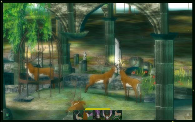 Die Ruine ist zum Treffpunkt des umherstreifenden Wilds geworden. Als ein Spieler stets bewegungslos am selben Ort auftauchte, beschlossen die Entwickler dieses Online-Spiels, einen Käfig um diesen Spieler zu bauen. Dies ist nur ein Beispiel für die dynamische Entwicklung der Erzählung in ›The Endless Forest‹.