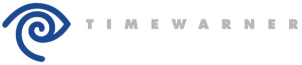 Die Unternehmen TIME und WARNER wurden auch in einem Markensymbol miteinander vereint (Design und Art Direction: Steff Geissbuhler, Partner und Hauptagentur: Chermayeff & Geismar Inc., 1990. Copyright: TimeWarner, New York, www.timewarner.com).