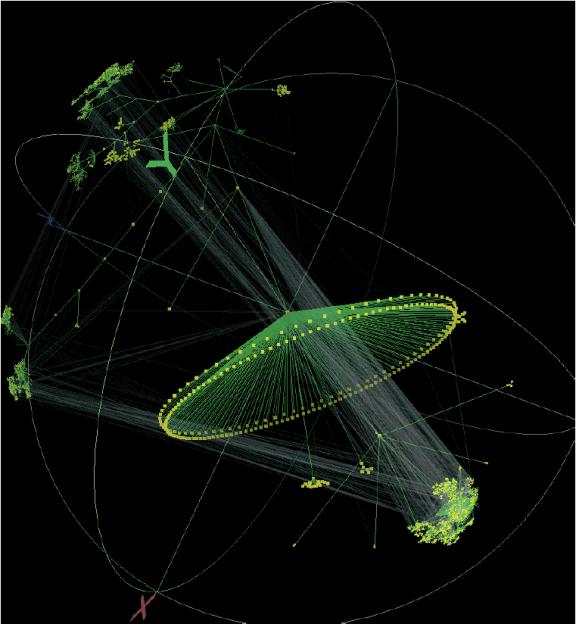 Das Walrus Graph Visualization Tool ist eine Topology Map von CAIDA, Cooperative Association for Internet Data Analysis. Mit ihm ist beabsichtigt, einerseits den globalen Kontext, und andererseits bei Bedarf auch das Detail gleichermaßen anzeigen zu können (www.caida.org/tools/visualization/walrus).