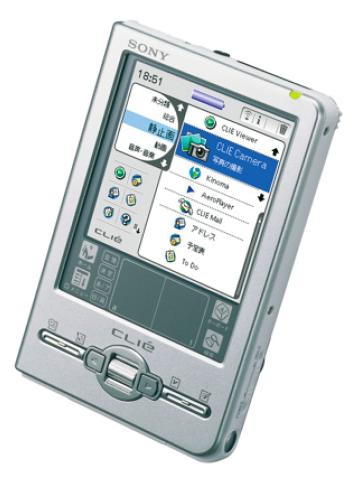 Sony Clio PEG-TJ37 mit Scrollwalze.