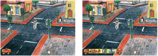 ›Das Verkehrslernspiel – Fred und das Flaschenfahrrad‹, CD-ROM. Illustration von Theo Kerp, © Tivola Publishing GmbH, www.tivola.de.