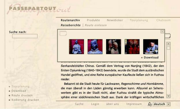 Internetseiten, die auf Basis der Funktionslayouts erstellt wurden.