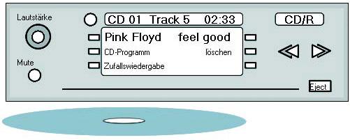 Da die Funktionsstruktur eines Autoradios mit CD-Player relativ simple ist, sieht das Funktionsstrukturdiagramm entsprechend einfach aus (Projekt von Marcel Huch an der Uni Wuppertal, Computational Design; Betreuung: Torsten Stapelkamp).
