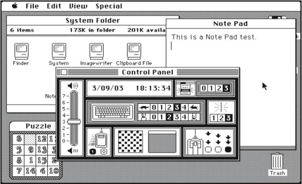 Mac OS System 1.1, 1984