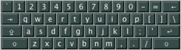 QWERTY-Tastatur.