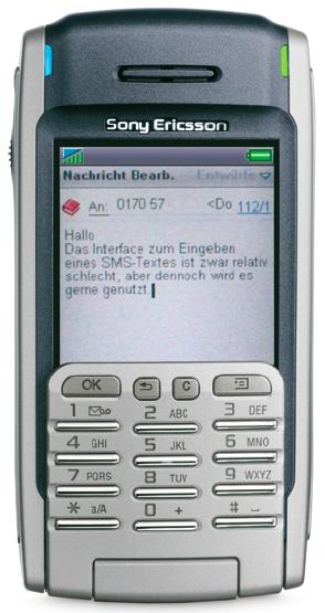 SMS-Interface, SonyEricsson P900 (Foto: SonyEricsson).