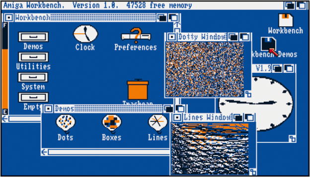 Amiga OS, Workbench 1.0, 1985