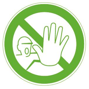 Zutritt für Unbefugte verboten.
