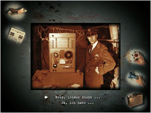 ›Berlin Connection‹. Ein interaktiver Dokumentar-Thriller von Eku Wand aus dem Jahr 1999 auf CD-ROM. Parallel zum interaktiven Dokumentar-Thriller erschien das Buch ›Gefährliches Spiel‹ und die Website www.berlin-connection.de.
