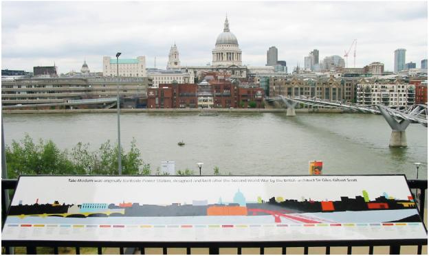 Leitsysteme, wie man sie in vielen Städten findet (London; Foto: Xinrui Song).