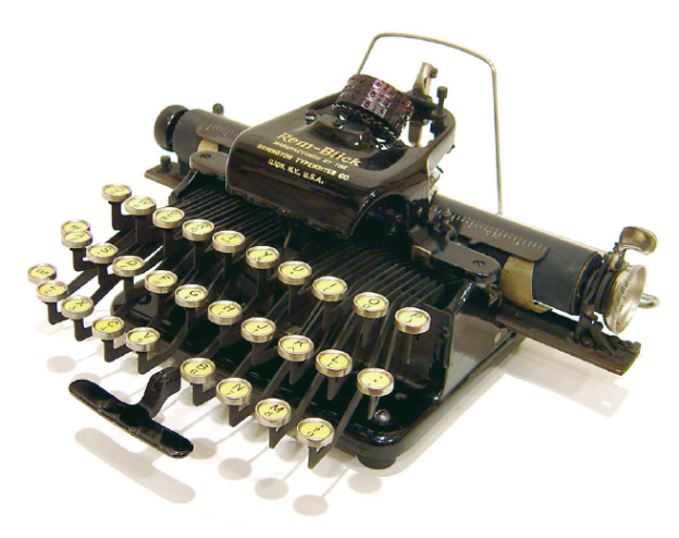 QWERTY-Tastatur, Remblick, USA, 1928 (Foto: Richard Polt).