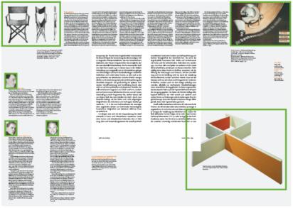 Gestaltungslayout / Raster / Leserichtung