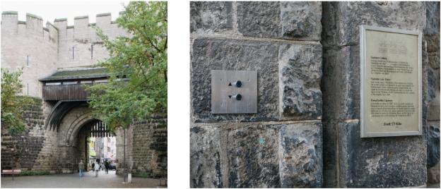 Schalter am Eigelsteintor, Köln. Installiert vom Kölner Künstler Veit Landwehr, 22.10.2006. Die Funktion ist aber nur eine Täuschung.