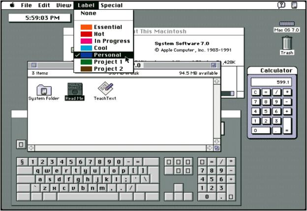 Mac OS 7.0, 1991