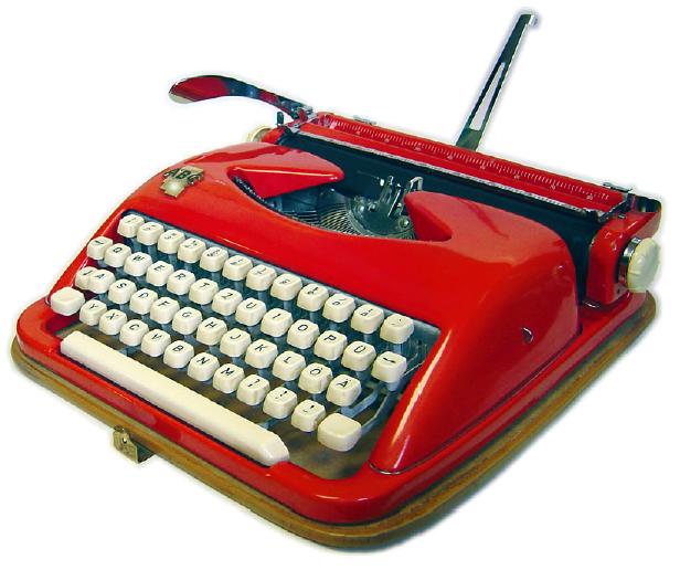 Deutsche Schreibmaschine mit QWERTZ-Tastatur (Foto: Richard Polt).