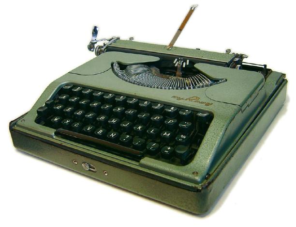 Rooy, französische Schreibmaschine mit AZERTY-Tastatur, 1958 (Foto: Richard Polt).