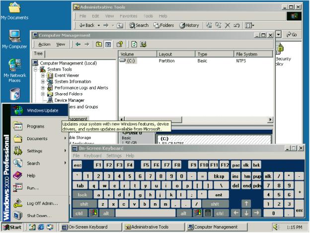 Windows 2000 Pro, 2000