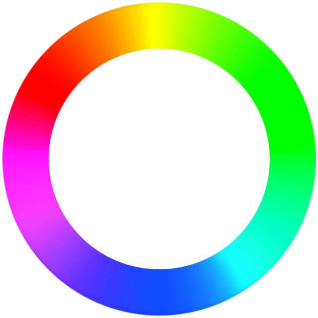Bild eines Farbkreises für den Artikel Wahrnehmung und Farbe.