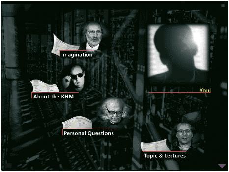 Die Navigation durch die Inhalte dieser CD-ROM-Produktion wird durch Fragebögen den Interessen und Kenntnissen des Anwenders angepasst (CD-ROM ›Machine-Phantasies – Phantasy-Machines‹).