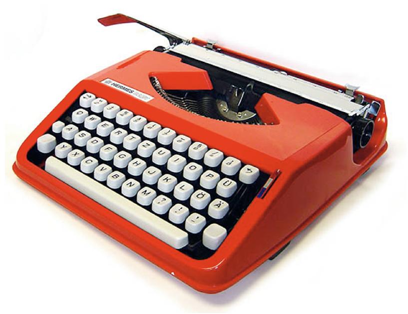 Kontraste beim Interface (Tastatur) einer Schreibmaschine (Hermes, Schweiz ca. 1970).