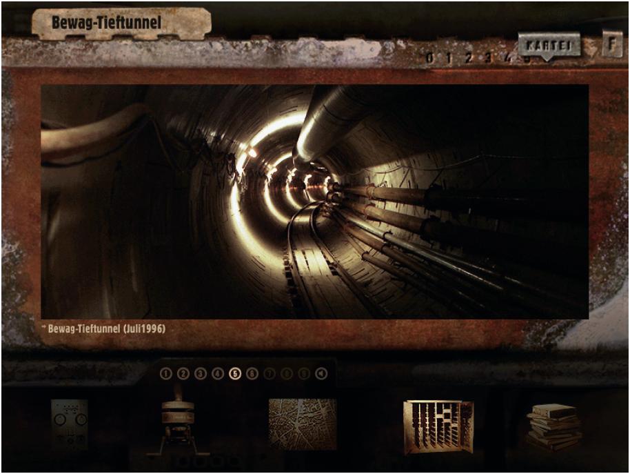 """Hell-Dunkel-Kontrast beim CD-Rom-Adventure-Game """"Potsdamer Platz"""" von Prof. Eku Wand."""