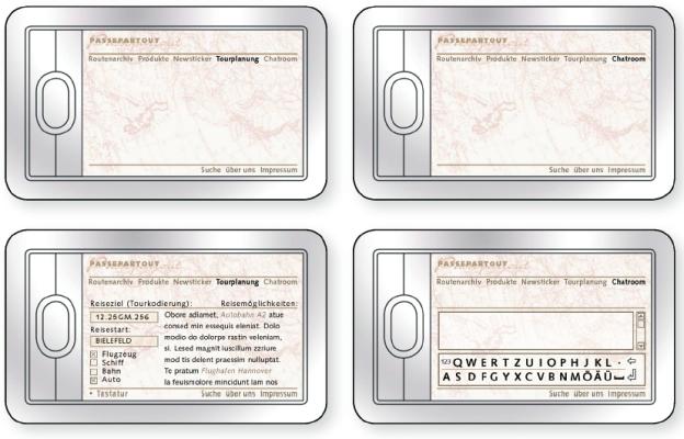 Die Internetseite von ›Passepartout‹ kann über den PDA aufgerufen und aktualisiert werden.