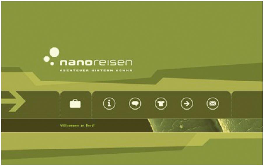 Screenshot von www.nanoreise.de