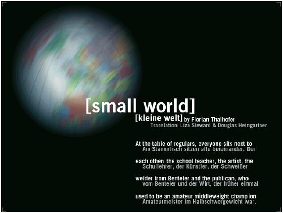 [kleine welt], eine interaktive Erzählung im Internet von Florian Thalhofer, www.kleinewelt.com
