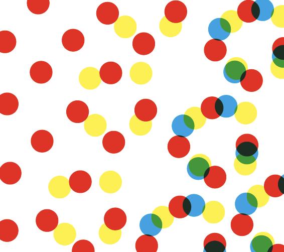 Bild des Raster-Vierfarbendrucks für den Artikel Wahrnehmung und Farbe.