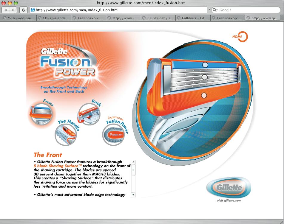 Screenshot der Website von Fusion Klingen.