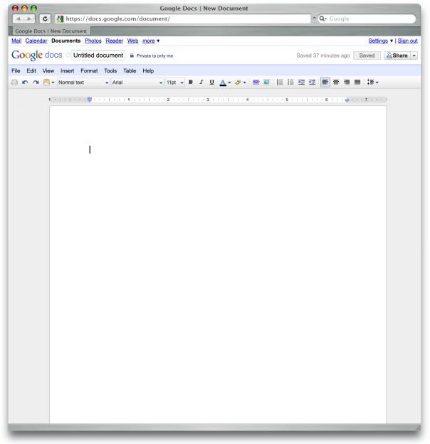 Google Docs – Textverarbeitung