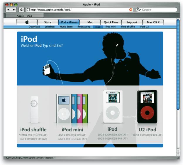 Interface = Image. Apple ist wohl eines der bekanntesten Unternehmen, dessen gutes Image auf die wohl durchdachten und gestalteten Interfaces seiner Hard- und Softwareprodukte basiert.
